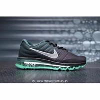 Sepatu Nike Air Max Full Original dengan Warna Hitam / Hijau / Abu-