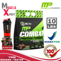 MP Combat Protein Powder 10 Lbs MP Combat Whey 10 Lb Muscle Pharm BPOM