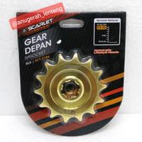Gir Depan Gear Depan Kawasaki KLX 150 Scarlet Gold 428 14