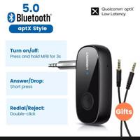 Ugreen Bluetooth 5.0 receiver AptX audio aux Low Latency 3.5mm BT5. 0