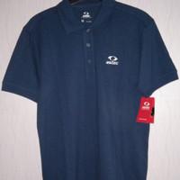 Original 100 % Kaos Kerah Polo Shirt Men ASTEC Cotton-Navy