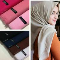 Kerudung Segi Empat SAUDIA EXCLUSIVE Hijab Polos Jilbab Polos Rawis