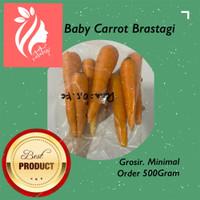 Baby carrot / wortel baby BRASTAGI 500gr sayur import