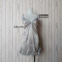 SKA140 Sexy Lingerie Abu Dress - Baju Tidur Tipis Transparan Wanita