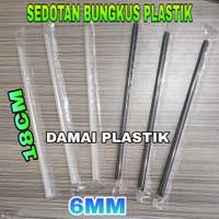 Sedotan Plastik 6mm 18cm Steril Hitam Bening Bungkus Plastik Hegenies