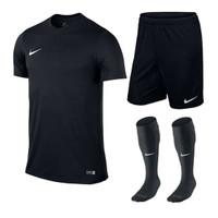 Stelan olahraga Bola Futsal Running - paket baju olahraga + kaos kaki - Hitam