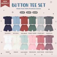 Little Palmerhaus Button Tee Set Short Sleeve /Baju Bayi Tangan Pendek