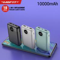 Powerbank MOFIT M16 10.000mAh LCD + Fast Charge Real Capacity Original