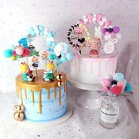 Cake Topper lengkungan bola balon hiasan ultah anniversary baby born