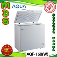 AQUA JAPAN Chest freezer box AQF-160 (w) pembeku daging es