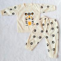 1 Stel Baju Tidur Piyama Bayi Murah All Size Usia 1-12 Bulan 5 Warna