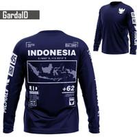Baju Kaos Distro Lengan Panjang Pria/ Kaos Garuda/ Fashion Pria