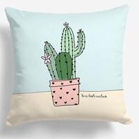 Bantal sofa motif kaktus cactus 031