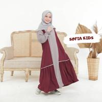 Gamis Anak Usia 9-12 Thn Baju Gamis Anak Perempuan SOFIA KIDS