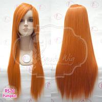 RS70 pumpkin orange | Wig long straight / lurus panjang / cosplay