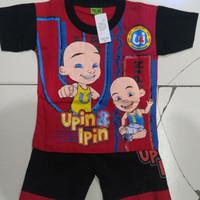 setelan baju anak laki-laki upin&ipin umur 2 - 3 tahun