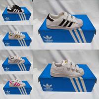 sepatu adidas superstar anak ukuran 25 - 35 Warna putih hitan pink 29