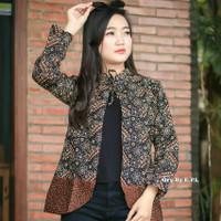 Blus Batik Blouse Wanita Bolero Blazer Motif Mataram