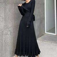 DRESS ELMA/FASHION WANITA/DRESS KOREAN/BAHAN RAJUT/TERLARIS/OOTD YUK