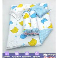 Set Perlengkapan Tidur Bayi Bed Cover Set Bantal Bayi pushy cat