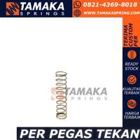 Per Spring Tekan OD 10mm Kawat 1mm Panjang 30mm Stainless Steel