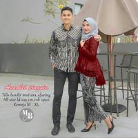 batik couple sarimbit batik brokat baju pasangan