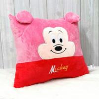 Bantal kotak 2warna 33x40cm/btl pooh barney/bantal mickey minnie
