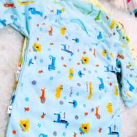 6Pcs Baju Bayi -New Born Lengan Panjang Motif Kc Bahu 0-4 Bulan-Arimbi