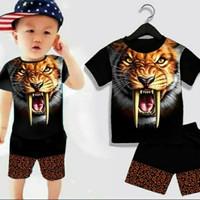 setelan anak baju 1 st anak cowo keren macan kuning