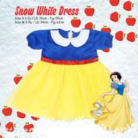 Baju Gaun Princess Snow White Dress Anak Kostum Karakter Lucu Kado Had