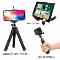 Tripod Portable Flexible Handphone Universal holder