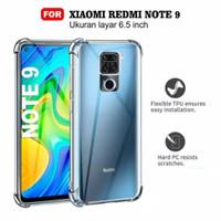 anticrack Xiaomi Redmi note 9 case cover anti crack acrylic casing