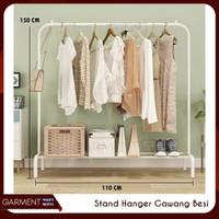 Rak besi Gantungan Baju Windproof Single standing hanger portable 734