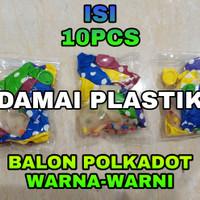Balon polkadot 12inch (sekitar 25cm)