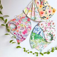 Masker Scuba Korea Motif Bunga