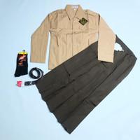 Setelan Lengkap Pramuka Cewek Seragam Sekolah Baju Rok Panjang