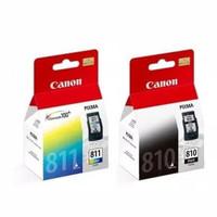 Paket Cartridge Tinta Canon PG 810 Black Dan CL 811 Color Original