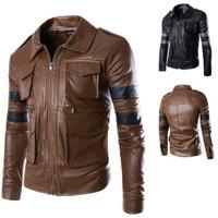 Jaket kulit domba super /Jaket kulit pria warna coklat