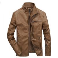 Jaket kulit domba super/Jaket kulit warna coklat/Jaket pria kasual
