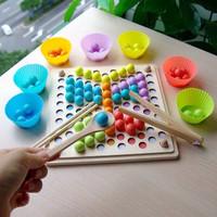Beads Wooden Sorting Toy - Mainan Edukasi Montessori sensory anak