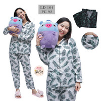 Baju Tidur Piyama Wanita/Cewek Pajamas Dewasa Motif Coco Daun PP