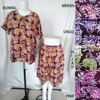 setelan daster batik murah/baju tidur batik wanita/pakaian batik kulot