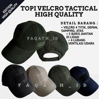 topi tactical polos & topi taktikal polos & topi velcro polos & top - Krem
