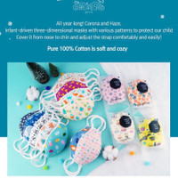 STARS AND SAND BABY and KIDS 3D KOREAN premium face mask