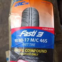 Paket Ban Luar Motor IRC Fasti 3 90/80-17 2 pcs Tubeless Soft compound