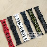 Strap Apple Watch Nike + Rubber Sport Band Seri 1 2 3 4 5 42mm 44mm