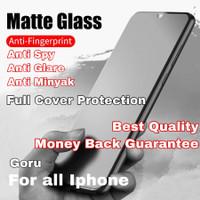 Tempered Glass matte anti spy Iphone 6 6s 7 8 plus X Xr Xs Max 11 Full