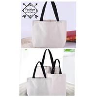 Tote Bag Kanvas Eco Friendly Tas Belanja Baggu Bag - BESAR
