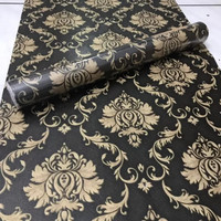 wallpaper batik GOLD DASAR HITAM