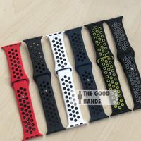 Strap Apple Watch Nike + Rubber Sport Band Seri 1 2 3 4 5 38mm 40mm